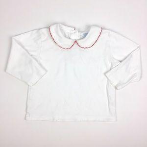 Bella Bliss Long-Sleeve White Collared Shirt 3T